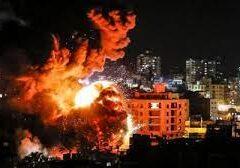 Bombardeos israelies en Gaza deja al menos 20 muertos de artillería de cohete
